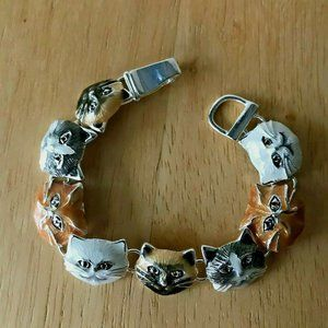 Cat Bracelet Magnetic Closure Kitty Rescue New